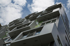 Αστική σύγχρονη ανάπτυξη προσόψεων πόλεων αρχιτεκτονικής Στοκ Φωτογραφίες