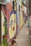 Αστική τέχνη σε Valparaiso, Χιλή Στοκ Εικόνες