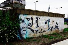 Αστική τέχνη - δύναμη και δύναμη Στοκ Εικόνες
