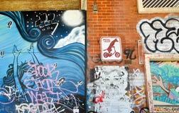 Αστική τέχνη: Fremantle, δυτική Αυστραλία Στοκ φωτογραφία με δικαίωμα ελεύθερης χρήσης