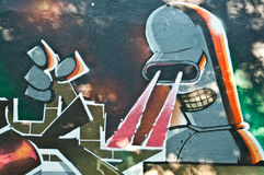 Αστική τέχνη - lazer χαρακτήρας Στοκ εικόνα με δικαίωμα ελεύθερης χρήσης