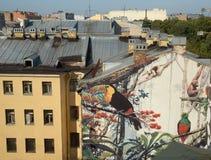 Αστική τοιχογραφία Στοκ φωτογραφία με δικαίωμα ελεύθερης χρήσης