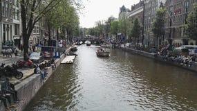 Αστική φύση πόλεων του Άμστερνταμ ποταμών Στοκ Εικόνες
