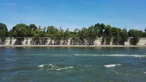 Αστική φύση του Παρισιού ποταμών του Σηκουάνα Στοκ Εικόνες