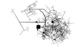 Αστικοποίηση και έννοια ανάπτυξης προγραμματισμού πόλεων απόθεμα βίντεο