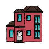 Αστικός ακριβός σπιτιών σχεδίων διανυσματική απεικόνιση