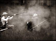 αστικός πόλεμος reenactors στοκ εικόνες