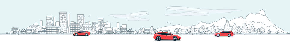 Αστικός δρόμος οδών πανοράματος τοπίων με τα αυτοκίνητα και τη φύση Β πόλεων
