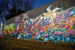 αστικός τοίχος γκράφιτι Παρασκευής τέχνης Στοκ εικόνες με δικαίωμα ελεύθερης χρήσης