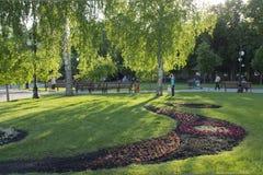 Αστικός το κοινό λίγο πάρκο που εξισώνει την άνοιξη Στοκ Εικόνες