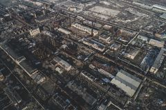 Αστικό εγκαταλειμμένο εργοστάσιο στοκ εικόνες με δικαίωμα ελεύθερης χρήσης