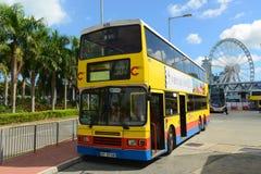 Αστικό λεωφορείο Χονγκ Κονγκ Στοκ φωτογραφίες με δικαίωμα ελεύθερης χρήσης