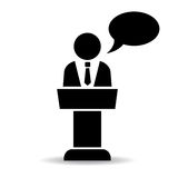 αστικό σας ομιλητών εικονιδίων στοιχείων σχεδίου Στοκ Εικόνα