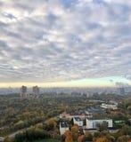 Αστικό τοπίο - άποψη από το ύψος στοκ εικόνες