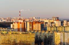 Αστικό τοπίο και κατοικήσιμες περιοχές, πολυκατοικίες Στοκ εικόνες με δικαίωμα ελεύθερης χρήσης