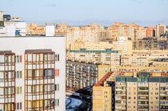 Αστικό τοπίο και κατοικήσιμες περιοχές, πολυκατοικίες Στοκ Εικόνα