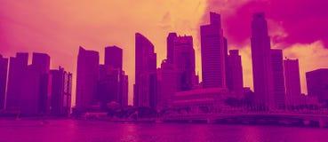 Αστικό τοπίο οριζόντων της Σιγκαπούρης Εμπορικό κέντρο Sityscape στοκ εικόνες