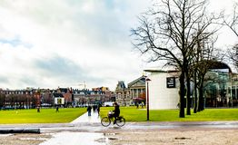 Αστικό τοπίο πόλεων του πάρκου του Άμστερνταμ ` s Στοκ Εικόνα