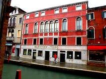 Αστικό τοπίο σε Murano, Ιταλία, σε μια βροχερή ημέρα Στοκ Εικόνες