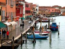 Αστικό τοπίο σε Murano, Ιταλία, σε μια βροχερή ημέρα Στοκ φωτογραφία με δικαίωμα ελεύθερης χρήσης