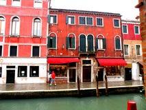 Αστικό τοπίο σε Murano, Ιταλία, σε μια βροχερή ημέρα Στοκ εικόνα με δικαίωμα ελεύθερης χρήσης