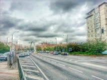 Αστικό τοπίο στη Μαδρίτη Στοκ εικόνα με δικαίωμα ελεύθερης χρήσης