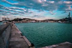 Αστικό τοπίο της Ανκόνα, Marche, Ιταλία Στοκ φωτογραφία με δικαίωμα ελεύθερης χρήσης