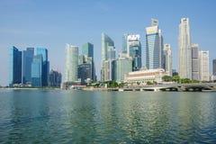 Αστικό τοπίο της Σιγκαπούρης ορίζοντας Στοκ φωτογραφία με δικαίωμα ελεύθερης χρήσης