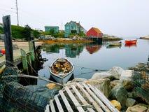 αστουρίες cudillero που αλιεύουν το χωριό της Ισπανίας Στοκ Εικόνες