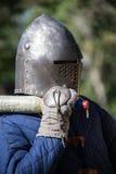 Αστράφτοντας εκμετάλλευση ξίφος ιπποτών Στοκ εικόνα με δικαίωμα ελεύθερης χρήσης