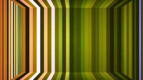 Αστράφτοντας κάθετο δωμάτιο φραγμών υψηλής τεχνολογίας ραδιοφωνικής μετάδοσης, πράσινος, αφηρημένο, Loopable, 4K απεικόνιση αποθεμάτων