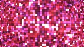 Αστράφτοντας σφαίρα τετραγώνων υψηλής τεχνολογίας ραδιοφωνικής μετάδοσης, ροζ, περίληψη, Loopable, 4K διανυσματική απεικόνιση