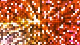 Αστράφτοντας τετράγωνα υψηλής τεχνολογίας ραδιοφωνικής μετάδοσης, πορτοκάλι, περίληψη, Loopable, 4K απόθεμα βίντεο