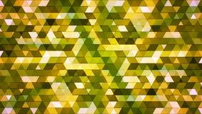 Αστράφτοντας τρίγωνα υψηλής τεχνολογίας πολυγώνων ραδιοφωνικής μετάδοσης, πράσινος, αφηρημένα, Loopable, 4K διανυσματική απεικόνιση