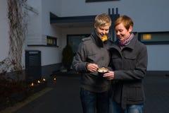 Αστραπή ένα κερί Στοκ φωτογραφίες με δικαίωμα ελεύθερης χρήσης