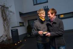 Αστραπή ένα κερί Στοκ φωτογραφία με δικαίωμα ελεύθερης χρήσης