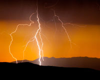 Αστραπή ερήμων Στοκ εικόνα με δικαίωμα ελεύθερης χρήσης