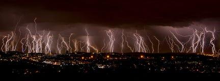 αστραπή πόλεων Στοκ Εικόνα