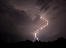 Αστραπή στον ουρανό Στοκ εικόνες με δικαίωμα ελεύθερης χρήσης