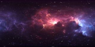 αστρικά σύστημα και νεφέλωμα 360 βαθμού Πανόραμα, περιβάλλον 360 χάρτης HDRI Προβολή Equirectangular, σφαιρικό πανόραμα απεικόνιση αποθεμάτων