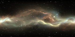 Αστρικά σύστημα και νεφέλωμα εικονικής πραγματικότητας Πανόραμα, περιβάλλον 360 χάρτης HDRI Προβολή Equirectangular, σφαιρικό παν απεικόνιση αποθεμάτων