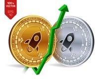 αστρικός ανάπτυξη πράσινος επάνω βελών Η αστρική εκτίμηση δεικτών ανεβαίνει στην αγορά ανταλλαγής Crypto νόμισμα τρισδιάστατος is ελεύθερη απεικόνιση δικαιώματος