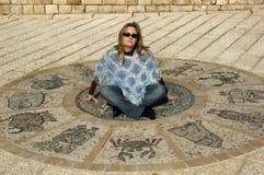 αστρολογική ρόδα Στοκ εικόνες με δικαίωμα ελεύθερης χρήσης