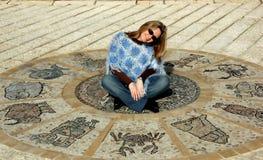 αστρολογική ρόδα Στοκ εικόνα με δικαίωμα ελεύθερης χρήσης