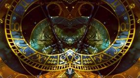αστρολογικό zodiac συμβόλων αφηρημένο χρώμα ανασκόπησης κολάζ υπολογιστών Στοκ φωτογραφία με δικαίωμα ελεύθερης χρήσης