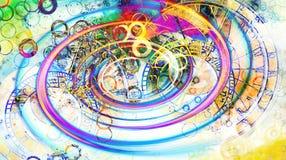 αστρολογικό zodiac συμβόλων αφηρημένο χρώμα ανασκόπησης κολάζ υπολογιστών Επίδραση στροβίλου Στοκ φωτογραφία με δικαίωμα ελεύθερης χρήσης