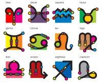 αστρολογικό zodiac συμβόλων Στοκ Εικόνες