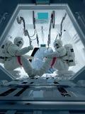 Αστροναύτες ομάδας Στοκ Φωτογραφία