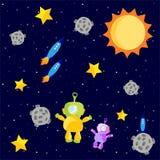 αστροναύτες που επιπλέ&omicro διανυσματική απεικόνιση