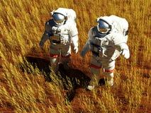 αστροναύτες δύο Στοκ Εικόνα
